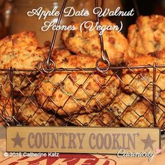 Apple Date Walnut Scones (Vegan)