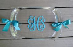 Personalized acrylic tray with handles by twosisters76 on Etsy, $30.00