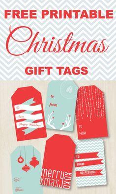 Brand new FREE Printable Christmas Gift Tags weheartparties.com