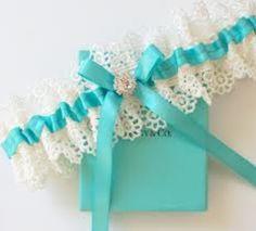 Something blue - wedding garter