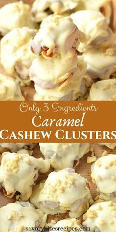 christmas candy Try this recipe of easy and best Caramel Cashew Clusters- delicious cashew clusters made with just 3 ingredients. The best homemade Holiday / Christmas gifting idea you can try to surprise and share with your friends and family. Easy Chocolate Desserts, Easy Desserts, Health Desserts, Chocolate Recipes, Delicious Desserts, Holiday Baking, Christmas Baking, Chocolate Clusters, Caramel Candy