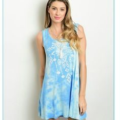 host pick  Light blue tye dye dress Pretty light blue dress. Soft and stylish. Dresses Mini
