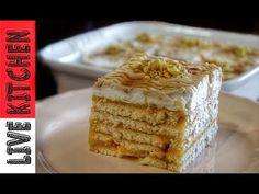 YouTube Greek Sweets, Happy Foods, Small Cake, Fudge Brownies, Homemade Ice Cream, Greek Recipes, Frozen Treats, Tray Bakes, No Bake Cake