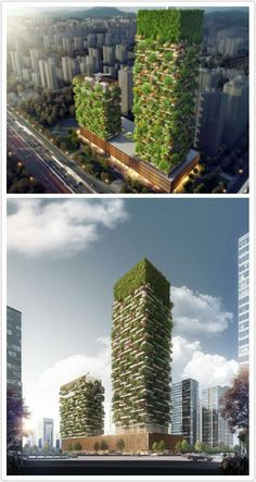 Vertical Forests that will be constructed in China to fight air pollution in 2018 - 9GAG