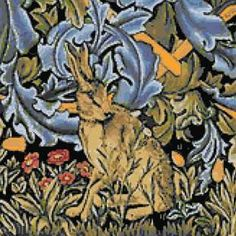 Hare by William Morris cross stitch kits