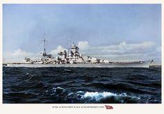 Heavy cruiser Scharnhorst, 1939.