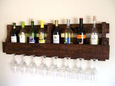 Reclaimed Wood Wine Rack   Pallet Wood Wine Rack  by TheVineyards, $59.00