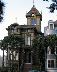The finest existing example of San Francisco Stick Style of Victorian Architecture in San Francisco California.