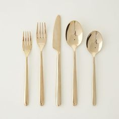 Rose gold flatware from West Elm. Bought a few sets of these to coordinate with my regular gold flatware from West Elm.