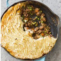 """This undated photo provided by America's Test Kitchen in October 2018 shows a shepherd's pie in Brookline, Mass. This recipe appears in the book """"Cook It In Cast Iron."""" (Joe Keller/America's Test Kitchen via AP) Irish Recipes, Fall Recipes, Beef Recipes, Cooking Recipes, Skillet Recipes, Dinner Recipes, Dinner Ideas, Cooking Ham, Pie"""