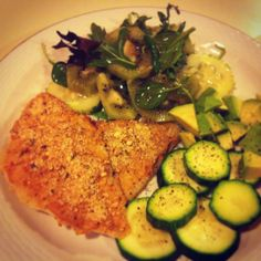High protein low carbs meal. Bake honey mustard and crusted sole filet.. Eat clean to get lean..