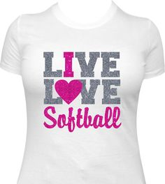 Softball Shirt Girls Softball Shirt Softball by TeeRificDesigns