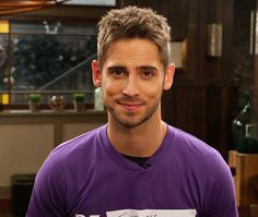 Jean-Luc Bilodeau is wearing purple to support LGBT youth today for GLAAD's Spirit Day! #ChooseKindness #BeInspired | Baby Daddy