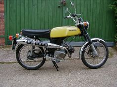 #Honda SS50.  My first powered (just) two wheels.  16 years old and as happy as...