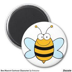 Personagem de desenho animado da mascote da abelha