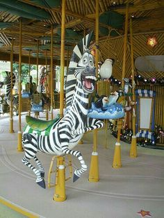 Funny carousel Zebra