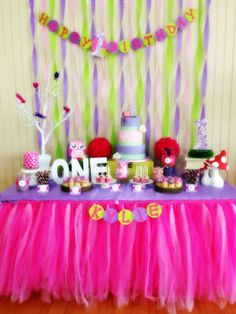 pink owl Birthday Party Ideas | Photo 8 of 13 | Catch My Party
