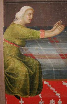 1328, Simone Martini, il Beato Agostino salva bambino caduto dalla culla, Siena (Polittico di S. Agostino da Novello)