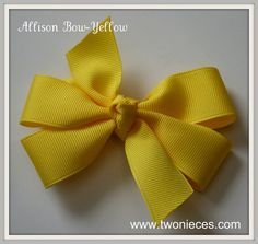 Two Nieces Allison Bow Yellow by TwoNieces on Etsy, $3.50