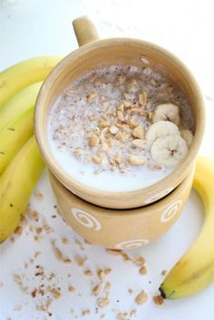 peanut butter and banana breakfast oatmeal recipe. Sounds delicious and so easy to make