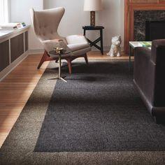 Carpet Tiles For Area Rug In Living Room From FLOR Design Ideas