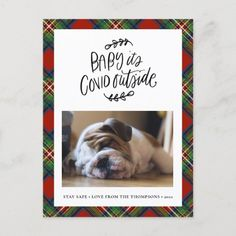 BULLDOG | Baby its COVID Outside Cute Christmas Holiday Postcard #ChristmasoftheBatman #christmasred #ChristmasDayDinner christmas quotes inspirational, christmas drawings easy, 12 days of christmas, back to school, aesthetic wallpaper, y2k fashion