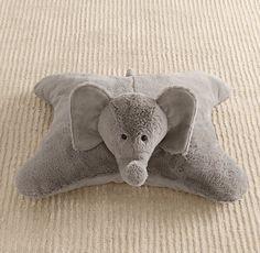 $39 Cuddle Plush Elephant Floor Pillow | Nursery Accessories | Restoration Hardware Baby & Child