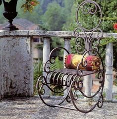 Is that not awesome? Wrought iron rocking chair!