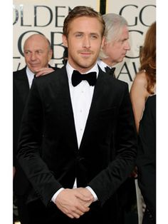 Ryan Gosling looks suave in classic black tie on #TuxedoWatch at the 2012 Golden Globes, pull off his look with a Johnny Tuxedo! http://www.johnnytuxedo.co.uk/