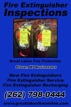 Fire Extinguisher Inspections Plover, WI (262) 798-0444 Check out Great Lakes Fire Protection.. The Complete Source for Fire Protection in Wisconsin. Call us Today!