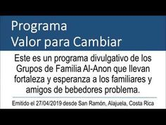 Programa Valor para Cambiar #127 27/04/2019 - YouTube Al Anon, Youtube, The Creator, Books To Read, Courage To Change, Fortaleza, Girlfriends, Youtubers, Youtube Movies
