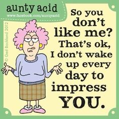 Not to impress you