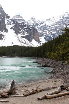 At the bottom of Victoria Glacier, Moraine Lake is a gorgeous place to visit in Canada's number 1 tourist destination.