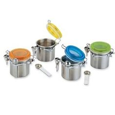 Mini Spice Canisters Set of 8