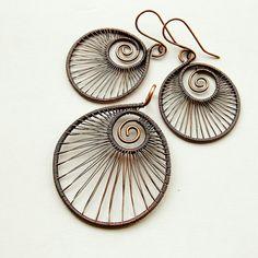 Wicked spiral earrings