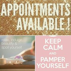 We have opened up a beauty clinic tomorrow from 2.30pm to 5.30pm. call 07903435424 to book in - Beauty appointments available tomorrow from 2.30pm to 5.30pm for Shellac, Pedicures, Manicures, Hot Stone Massage, Aromatherapy Massage, Neck Shoulder and Back Massage, LVL Lashes, Tinting. Contact me to book in today 07903435434
