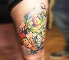 Toy Story tattoo by Nat Devilette