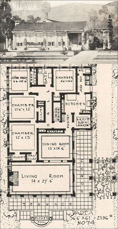 1916 Low Profile California Modern - Ideal Homes in Garden Communities - German Influence in American Residential Architecture