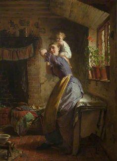 George Elgar Hicks, The Happy Mother, Grundy Art Gallery, Blackpool
