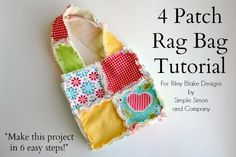 Hello! Today we have a 4Patch Rag Bag Tutorial for you. We shared it a month or two ago overat Riley Blake Designs and todaywe are bringing it back home to Simple Simon!          Hello! Today I get to share with you how to make a 4 […]