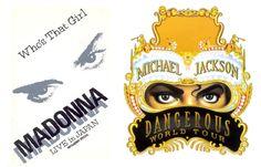 Who's That Girl Tour & Dangerous Tour フーズ・ザット・ガール・ツアー&デンジャラス・ツアー Madonna マドンナ Michael Jackson マイケル・ジャクソン
