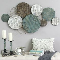 Woven Texture Metal Plate Wall Decor in 2019 Plate Wall Decor, Wall Decor Set, Modern Wall Decor, Metal Wall Decor, Plates On Wall, Diy Wall Decorations, Creative Wall Decor, Easy Wall Decor, Metal Wall Art