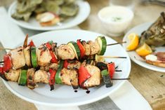 Jenny Steffens Hobick: Brown Sugar Chili Lime Grilled Chicken and Vegetable Kebabs