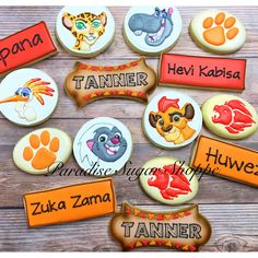 Lion Guard decorated cookies by Paradise Sugar Shoppe