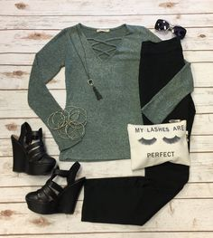 Field of Dreams Sweater Top from privityboutique