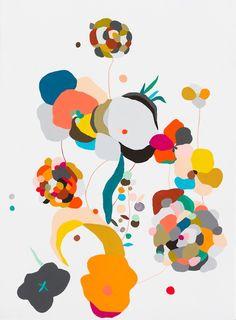 Art by Kirra Jamison. Love me two times 4, 2011 gouache, ink, pen and vinyl on paper. 76 x 56 cm. http://kirrajamison.wordpress.com