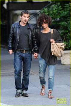 Halle Berry and Jimmy Choo Large Biker Bag - Outfit style