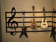 cool musical room designs   Great Room Guitar Display – Living Room Designs – Decorating Ideas …