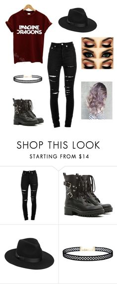 """Imagine Dragons"" by jo-sparxx ❤ liked on Polyvore featuring Yves Saint Laurent, RED Valentino, Lack of Color and LULUS"