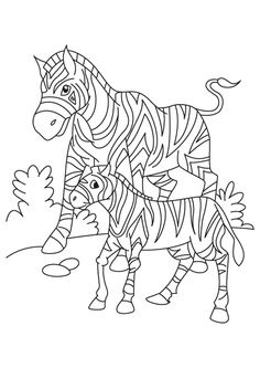 Zany Zebra Go Wild With This Design Downloads As A PDF Use Pattern Transfer Paper To Trace For Hand Stitching